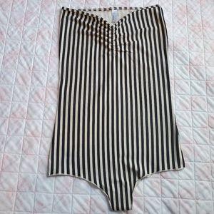 American Apparel striped bodysuit